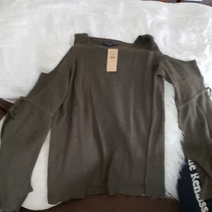 American eagle olive green cut out shoulder